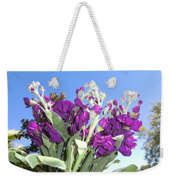 Purple Glow Weekender Tote Bag