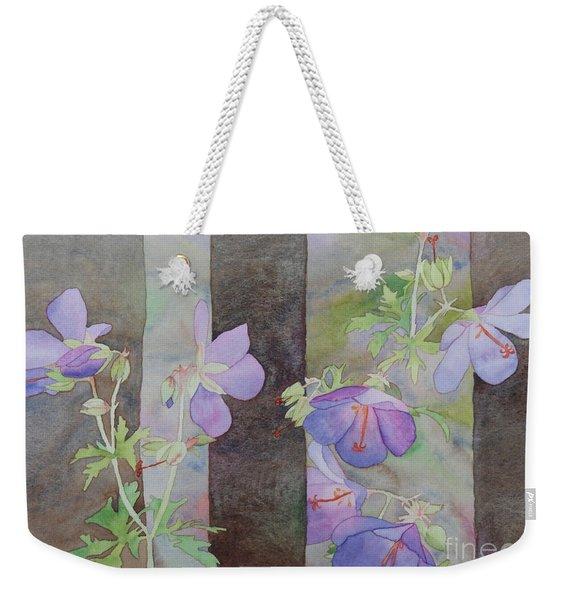 Purple Ivy Geranium Weekender Tote Bag