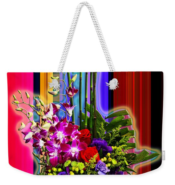 Purple Lady Flowers Weekender Tote Bag