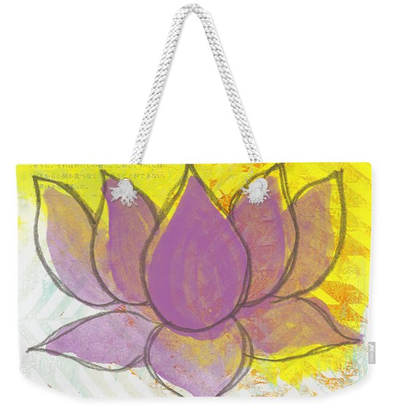 Purple Lotus Weekender Tote Bag