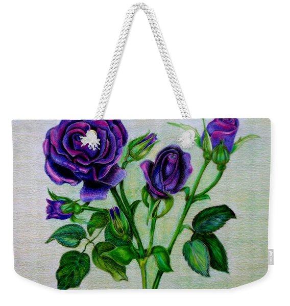 Purple Roses Weekender Tote Bag