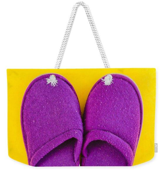 Purple Slippers Weekender Tote Bag