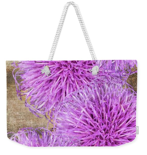 Purple Thistle - 2 Weekender Tote Bag