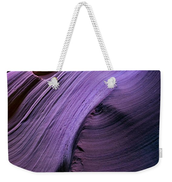 Purple Waves Weekender Tote Bag