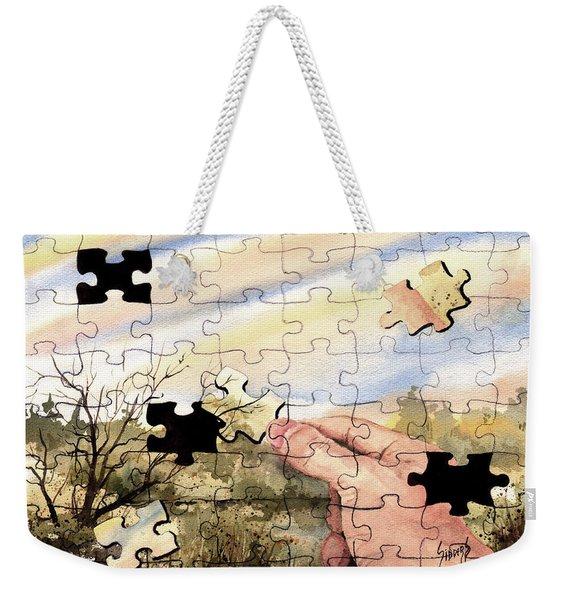 Puzzled Weekender Tote Bag