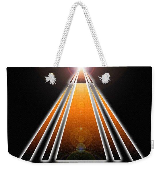 Pyramid Of Light Weekender Tote Bag