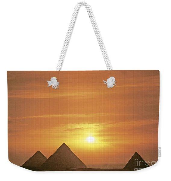Pyramids In Egypt Weekender Tote Bag
