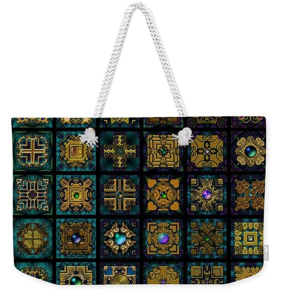 Quadtiles One Dingbat Quilt Weekender Tote Bag