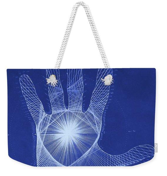 Quantum Hand Through My Eyes Weekender Tote Bag