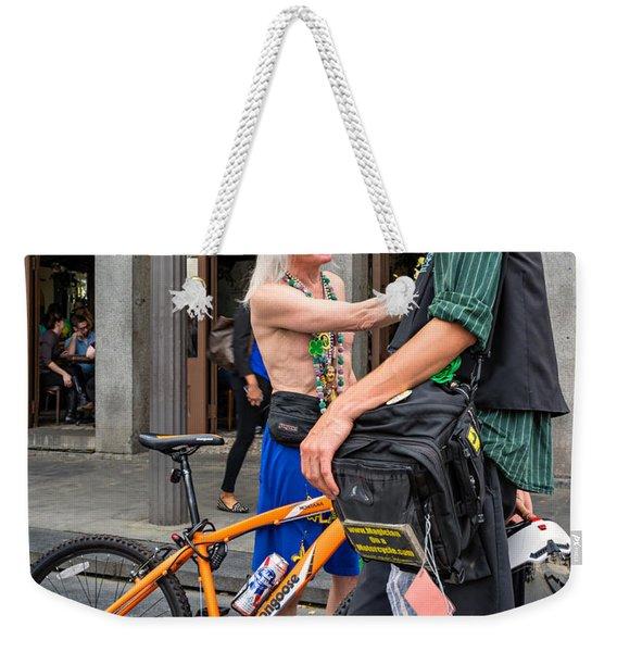 Quarter Talk Weekender Tote Bag
