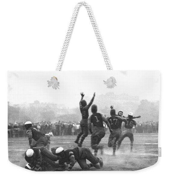 Quarterback Throwing Football Weekender Tote Bag