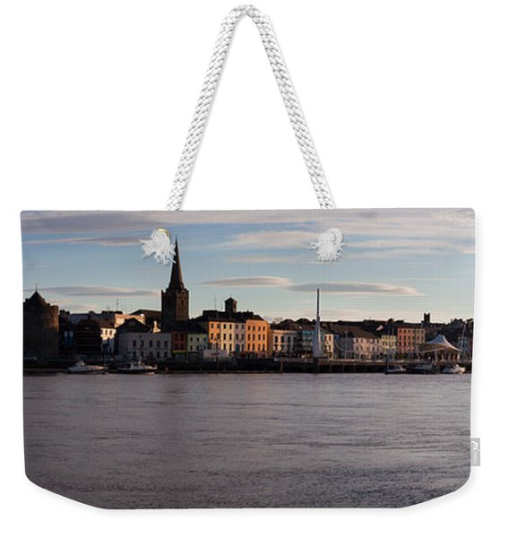 Quayside, Reginalds Tower, River Suir Weekender Tote Bag