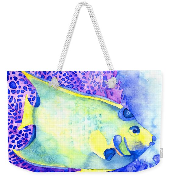 Queen Angelfish Weekender Tote Bag