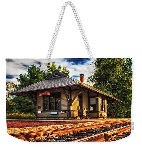 Queponco Railway Station Weekender Tote Bag
