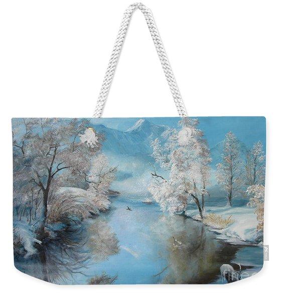 Quiet Ice  Weekender Tote Bag