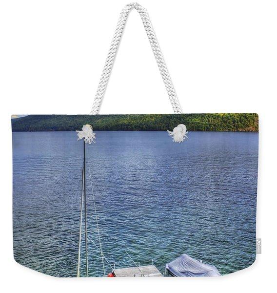 Quiet Jetty Weekender Tote Bag