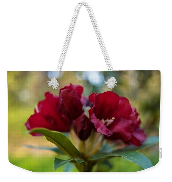 Quiet Red Blossoms Weekender Tote Bag