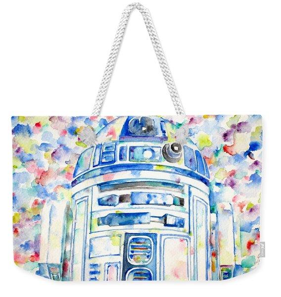 R2-d2 Watercolor Portrait.1 Weekender Tote Bag