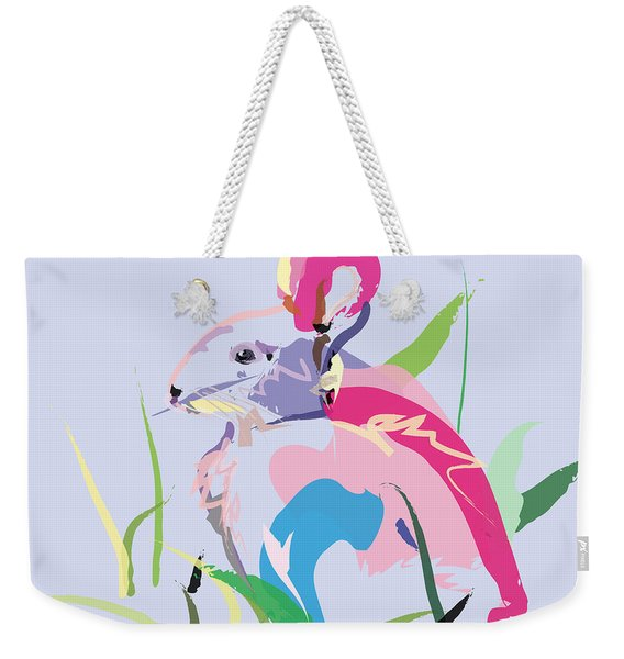 Rabbit - Bunny In Color Weekender Tote Bag