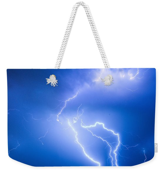 Rabbit Mountain Area Lightning Strikes Boulder County Weekender Tote Bag
