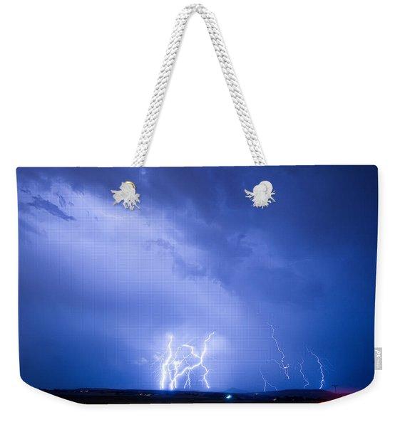 Rabbit Mountain Lightning Strikes Boulder County Co Weekender Tote Bag