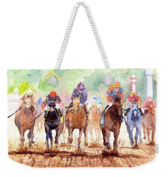 Race Day Weekender Tote Bag