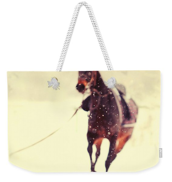 Race In The Snow Weekender Tote Bag