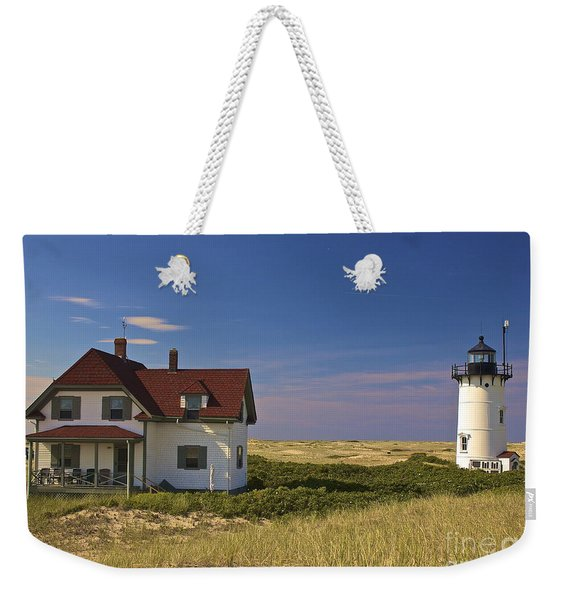 Race Point Lighthouse In Summer Weekender Tote Bag
