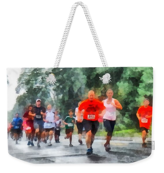 Racing In The Rain Weekender Tote Bag