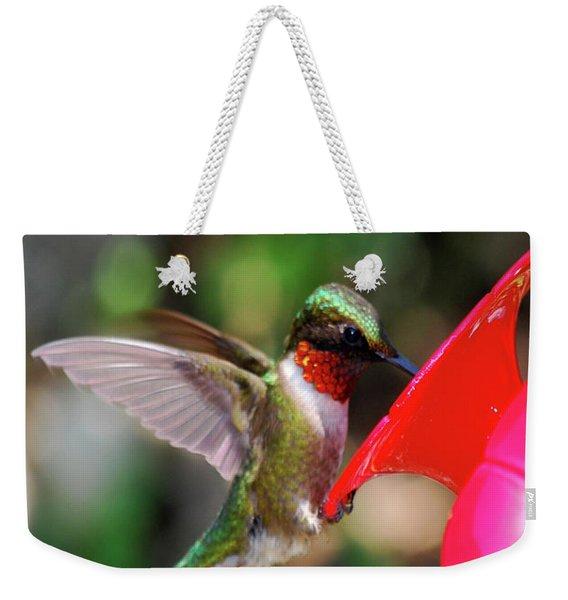 Radiant Ruby Weekender Tote Bag