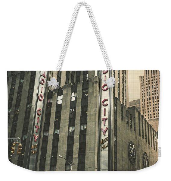 Radio City Hall Weekender Tote Bag
