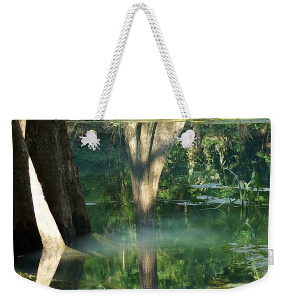 Radium Springs Creek In The Summertime Weekender Tote Bag