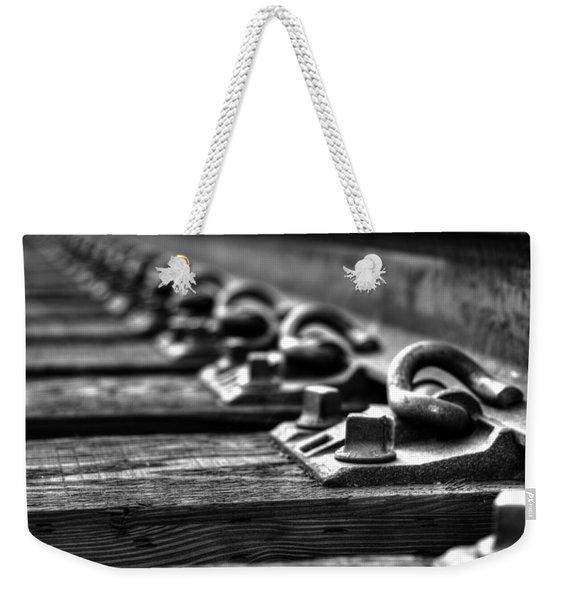 Rail Tie Weekender Tote Bag
