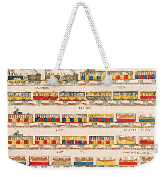 Rail Travel In 1845  Weekender Tote Bag