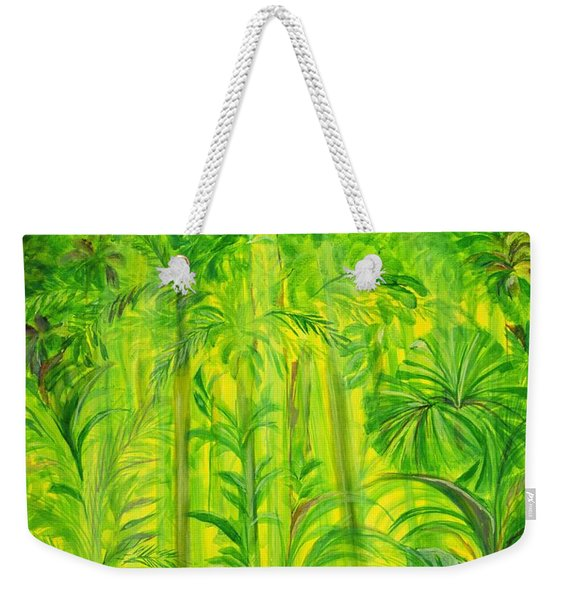 Rain Forest, Malaysia, 1990 Acrylic On Canvas Weekender Tote Bag