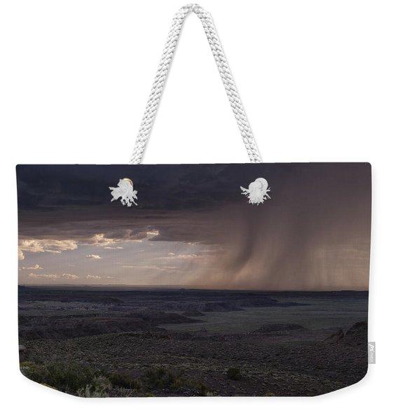 Rain On The Horizon Weekender Tote Bag