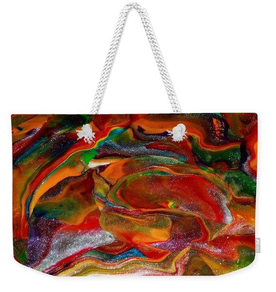 Rainbow Blossom Weekender Tote Bag