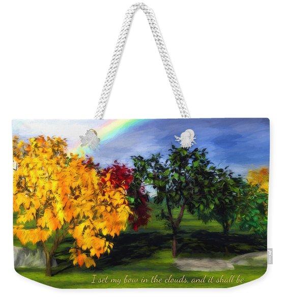 Rainbow Covenant Genesis Weekender Tote Bag