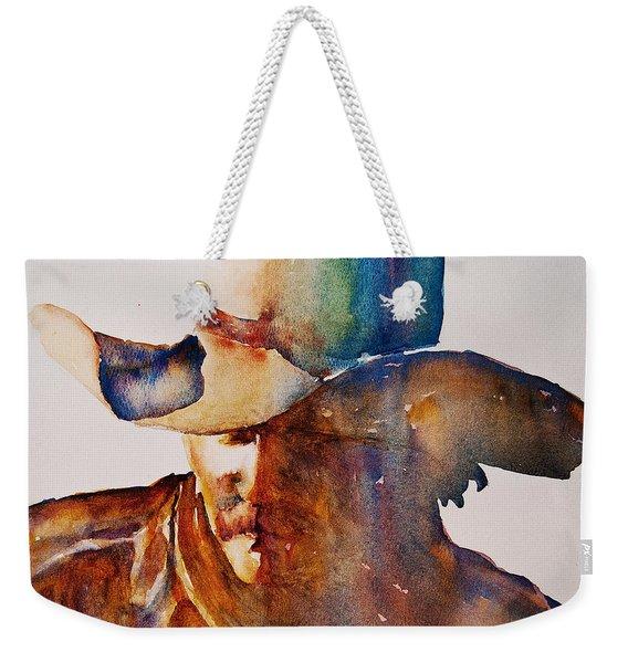 Rainbow Cowboy Weekender Tote Bag