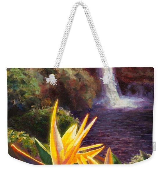Rainbow Falls Big Island Hawaii Waterfall  Weekender Tote Bag