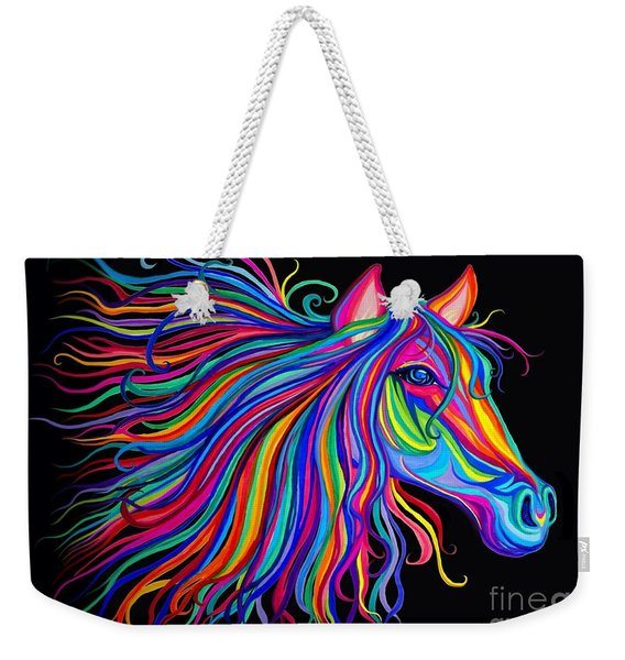 Rainbow Horse Too Weekender Tote Bag