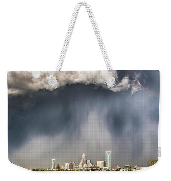 Rainbow Over Charlotte Weekender Tote Bag