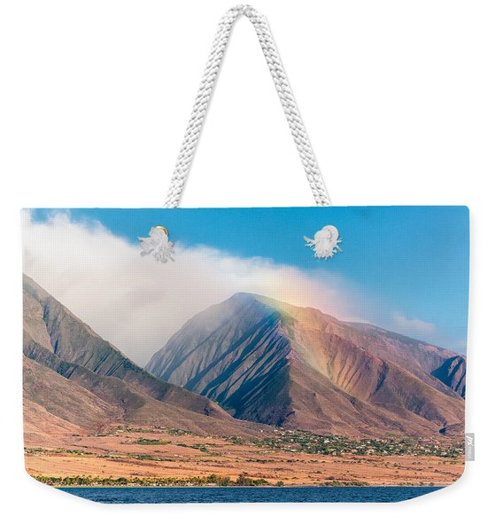 Rainbow Over Maui Mountains   Weekender Tote Bag