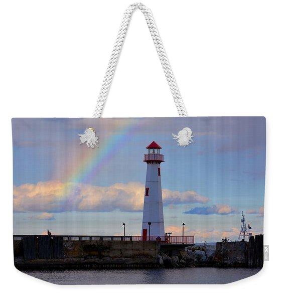 Rainbow Over Watwatam Light Weekender Tote Bag