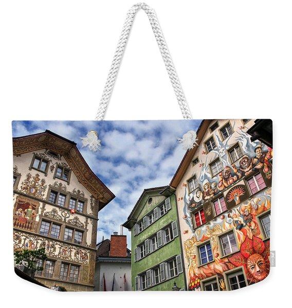 Rainbow Corner  Lucerne Weekender Tote Bag