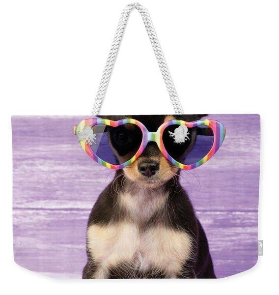 Rainbow Sunglasses Weekender Tote Bag