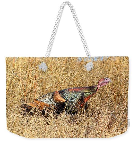Rainbow Turkey Weekender Tote Bag
