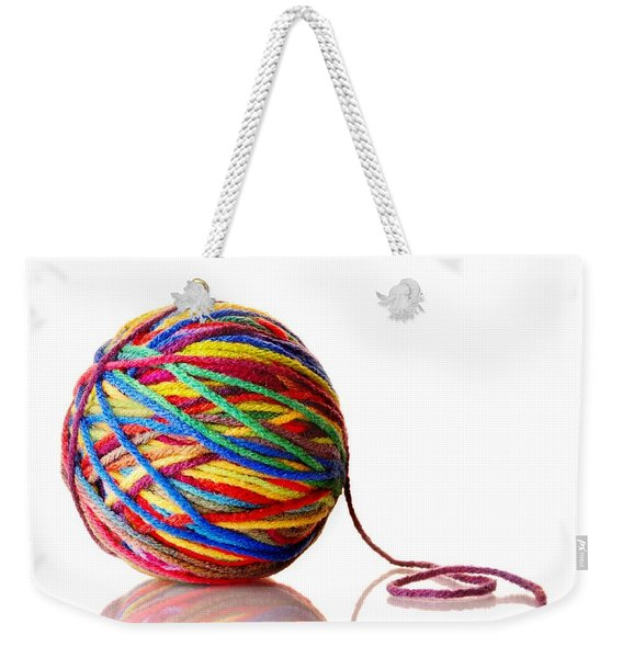 Rainbow Yarn Weekender Tote Bag