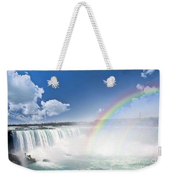 Rainbows At Niagara Falls Weekender Tote Bag