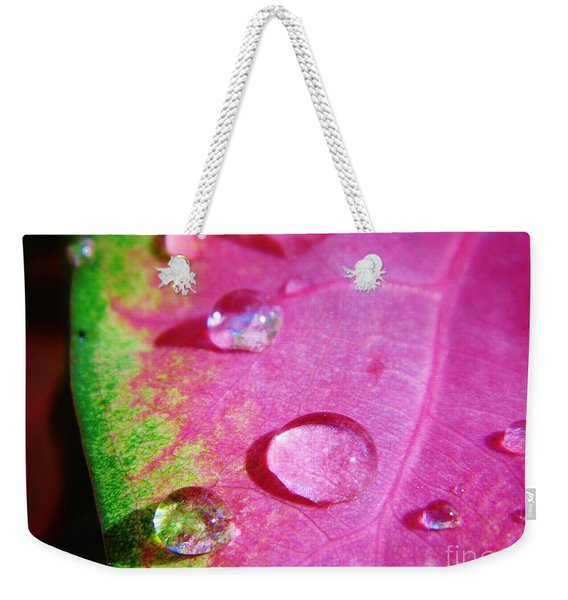 Raindrop On The Leaf Weekender Tote Bag